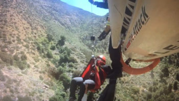 CAL FIRE and the San Diego Sheriff's ASTREA pilot rescue a woman last weekend out of Cedar Creek Falls.