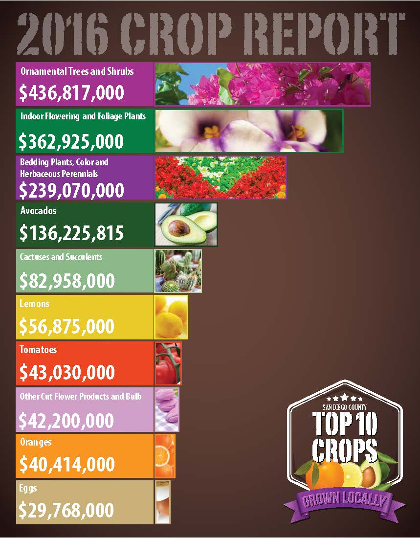 2016 Crop Report Top 10 Crops