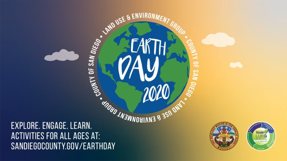 earth day logo with sandiegocounty.gov/earthday link