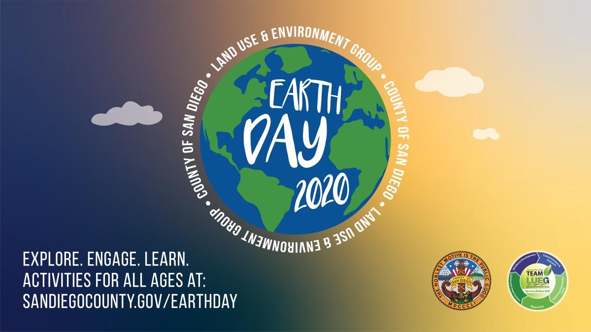 earth day logo with sandiegocounty.gov/earthday link