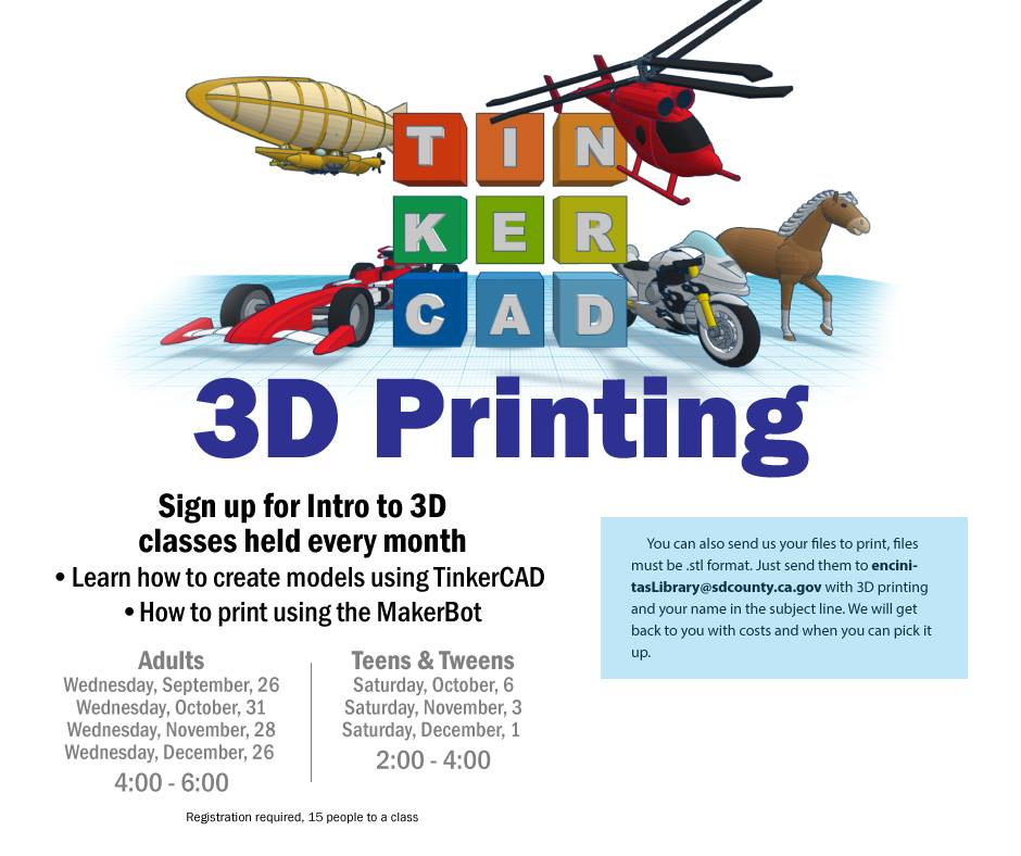Into to 3D Printing for Teens & Tweens