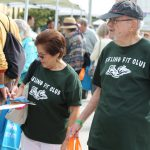 A couple check out the exhibits at the Vital Aging 2015 Conference