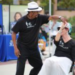 Wheelchair Dancers Organization gave a dancing demonstration