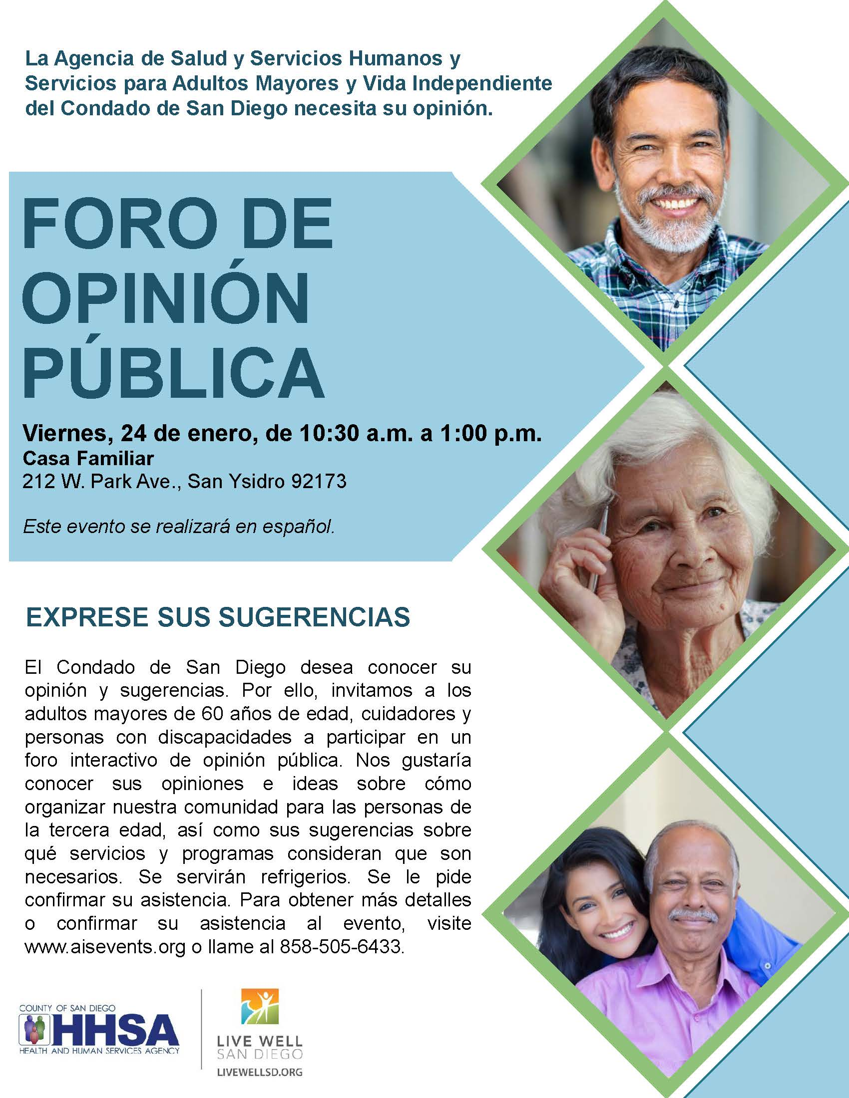 Public Feedback Forum: Shaping Our Aging Community