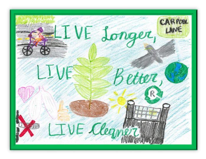 APCD's 2017 calendar cover artwork winner from Adelia G,  Fourth grader from Jonas Salk Elementary School.
