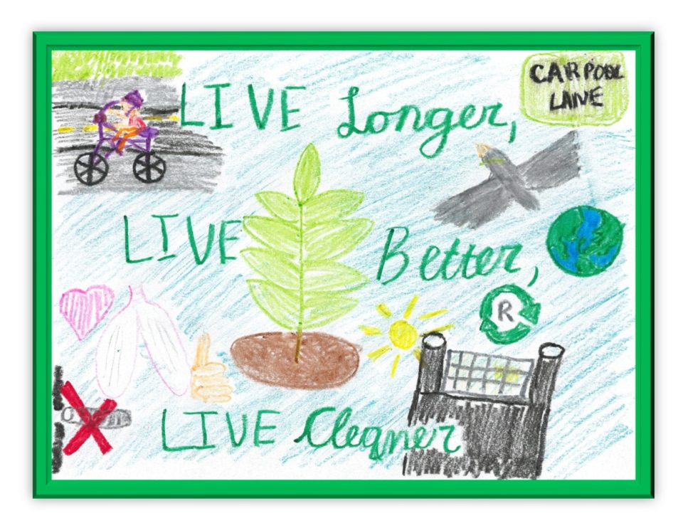 APCD's 2017 calendar cover artwork winner from Adelia G,  Fourth grader from Jonas Salk Elementary School.