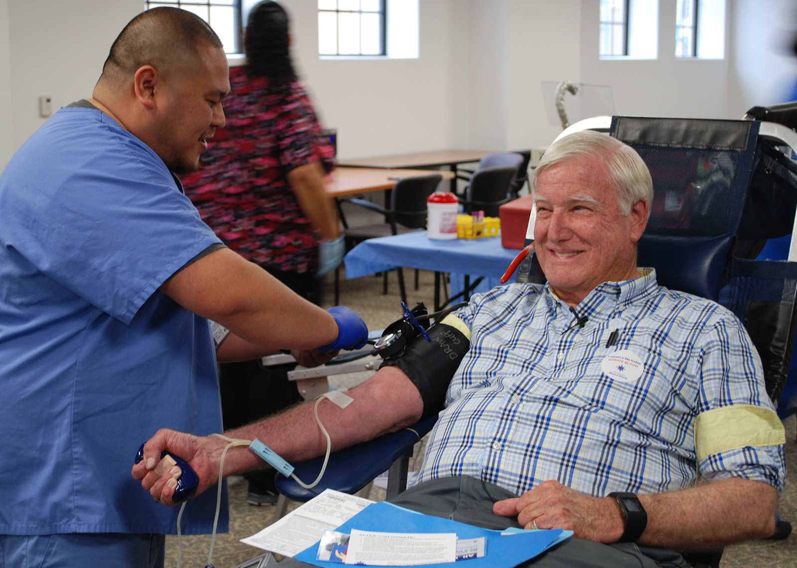 County Supervisor Greg Cox has donated more than 16 gallons of blood over the years.