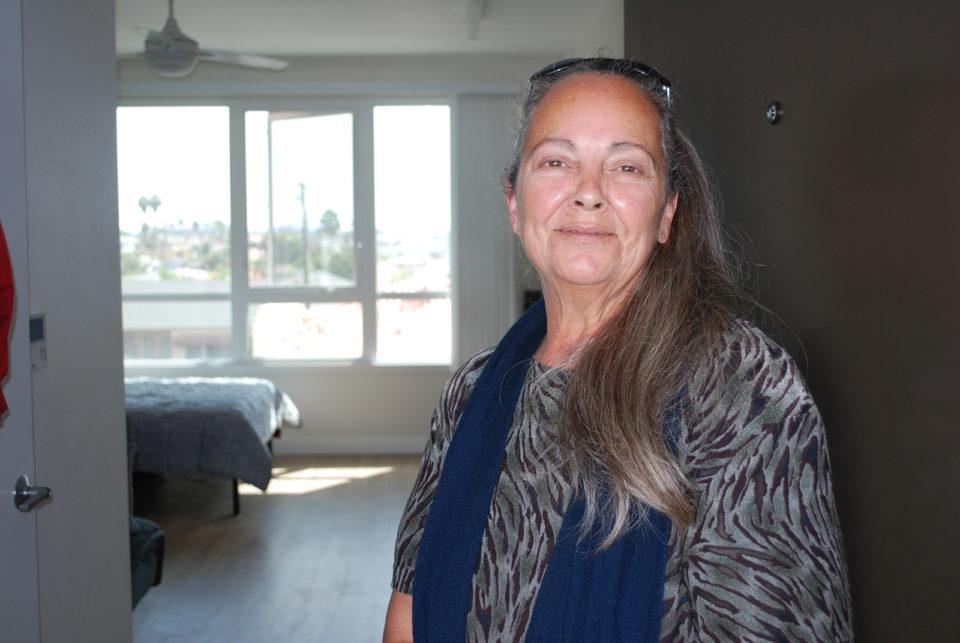 Bobbie Mae in her brand new studio apartment.