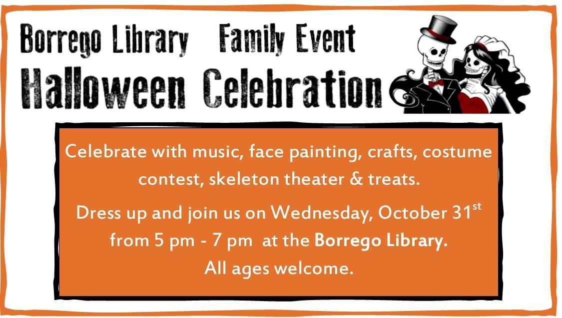 Borrego Library Family Halloween Celebration