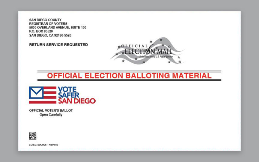 Official Election Balloting Material pamphlet