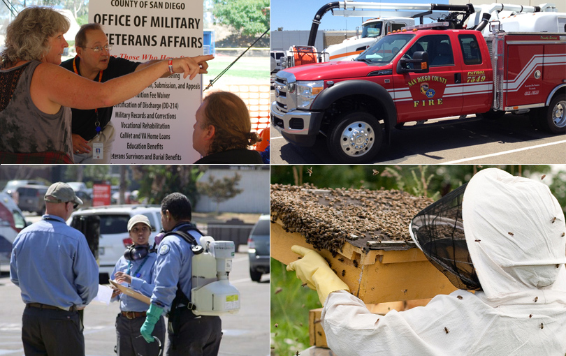 The Military and Veterans Resource Centers, Regional Fire Prevention Program, Vector Control Response to Invasive Aedes Mosquitoes and Zika  Virus and the Honey Bee Protection Program were among 56 programs awarded by NACo.
