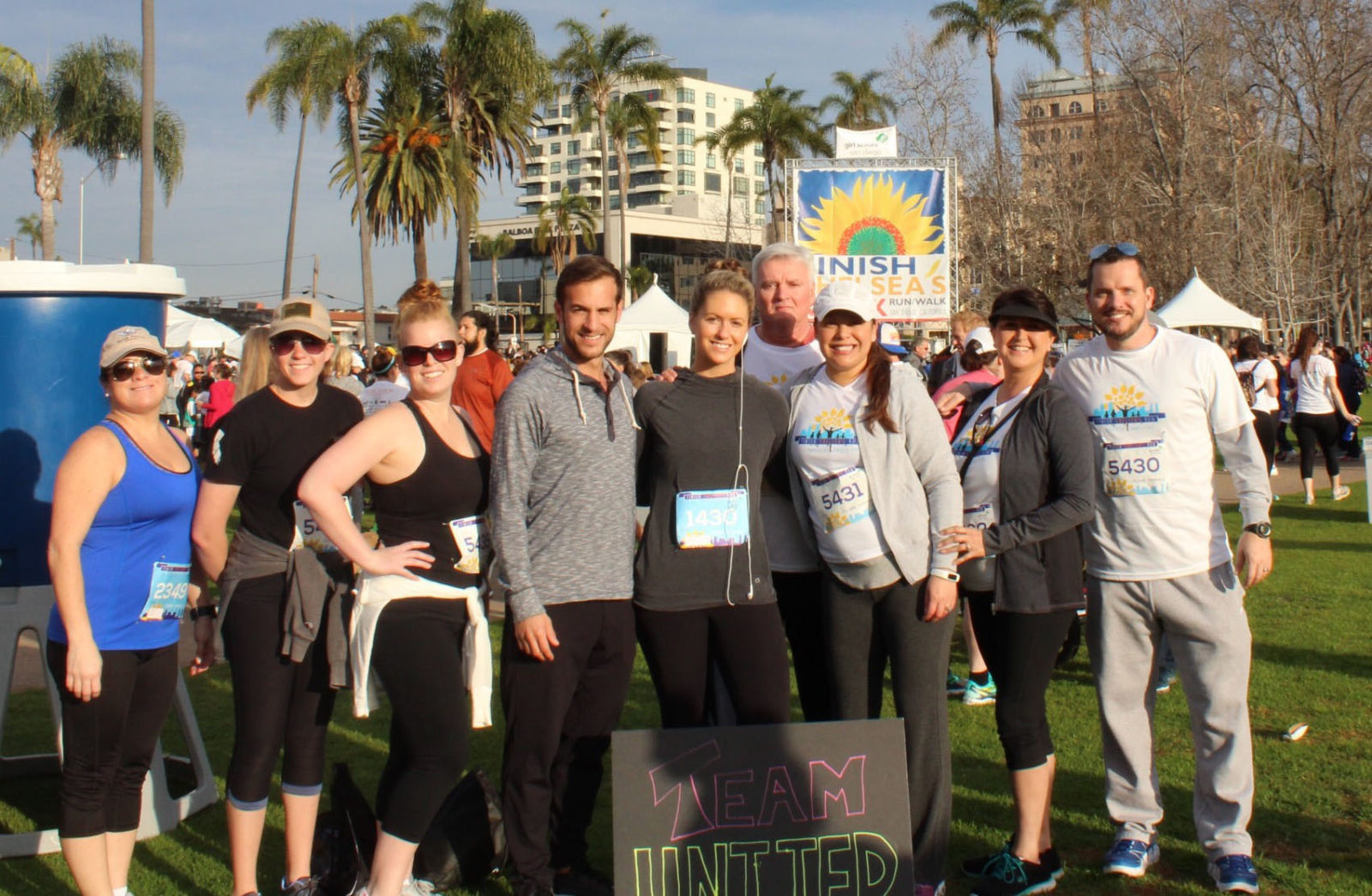 Some members of Team United that ran/ walked for Finish Chelsea's Run.