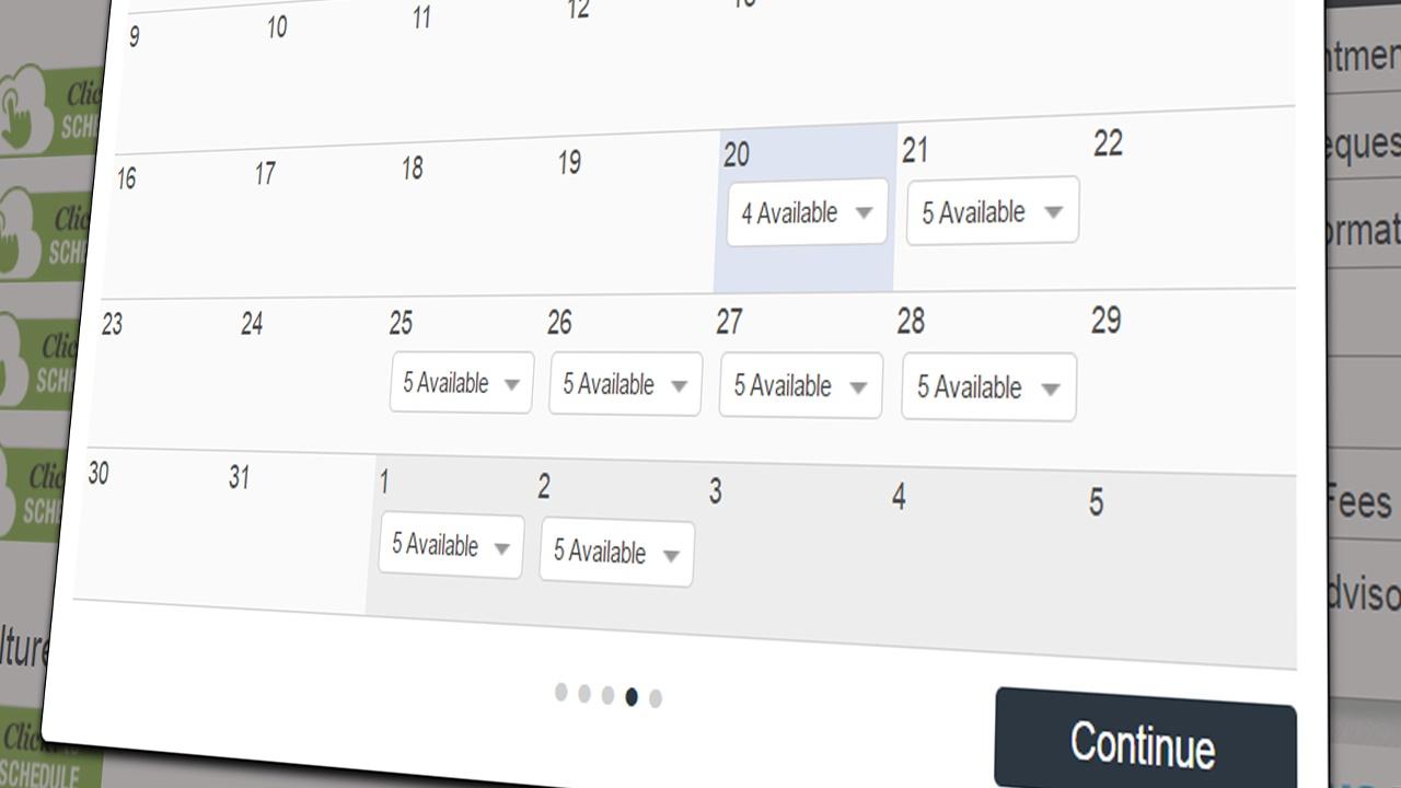 Click-to-schedule-calendar