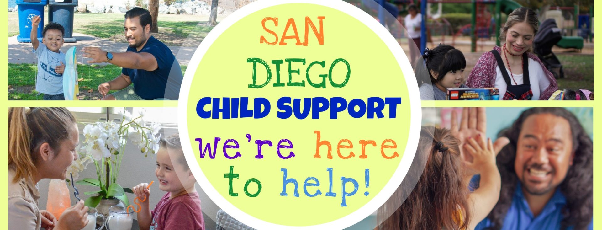 Examples of the Department of Child Support Services helping children.