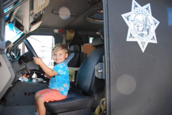 Children can explore San Diego County Sheriff emergency vehicles and learn about what it takes to be a deputy.