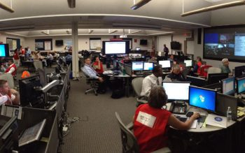 The Office of Emergency Services coordinates with the region during an emergency.