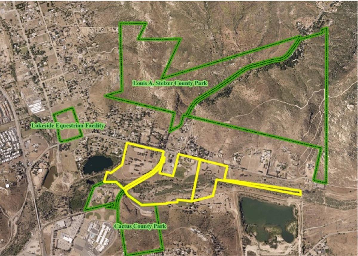 Map of El Monte area