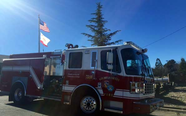 San Diego County Fire Authority engine