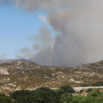 The Border Fire burned west of Campo.