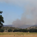 A view of the Border Fire from Cameron Corners.