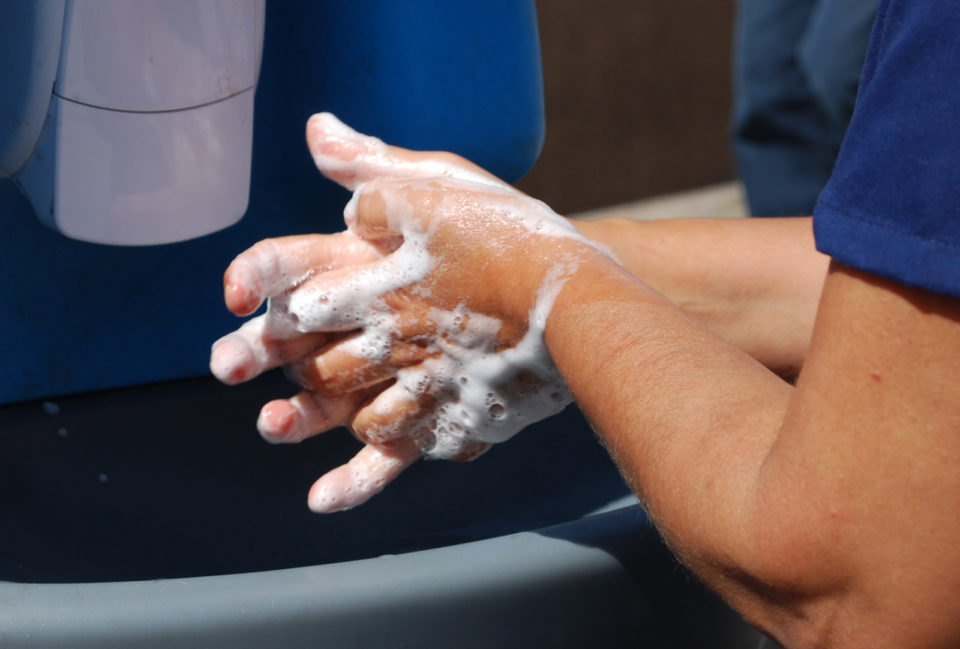 Hand washing with soap and water can help to stop the spread of hepatitis A.