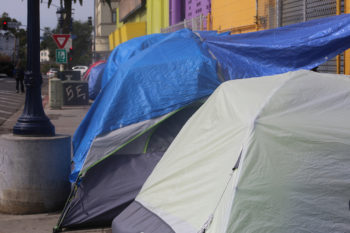 tents on the street