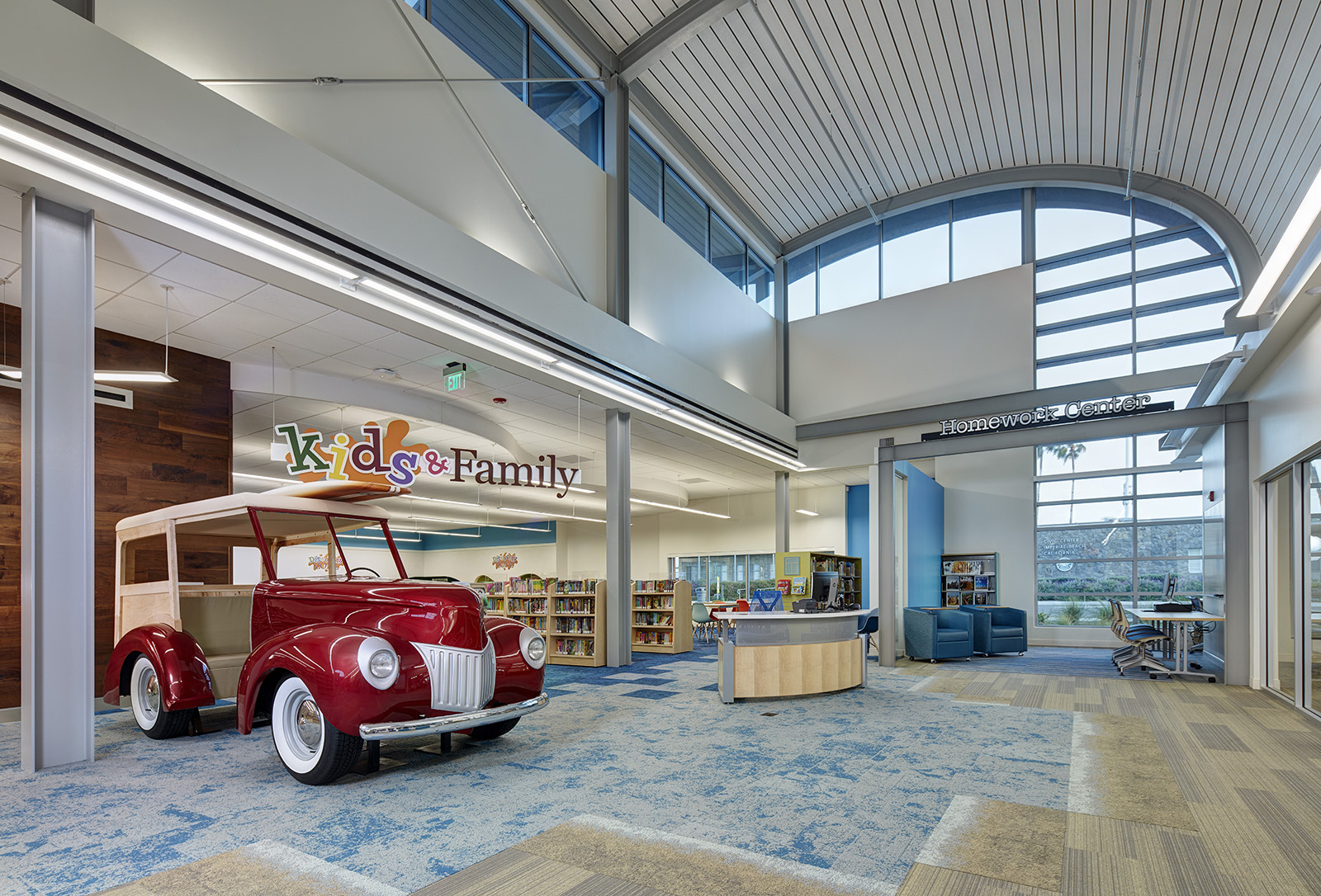 Imperial beach library wins people s choice orchid award - San diego interior design center ...