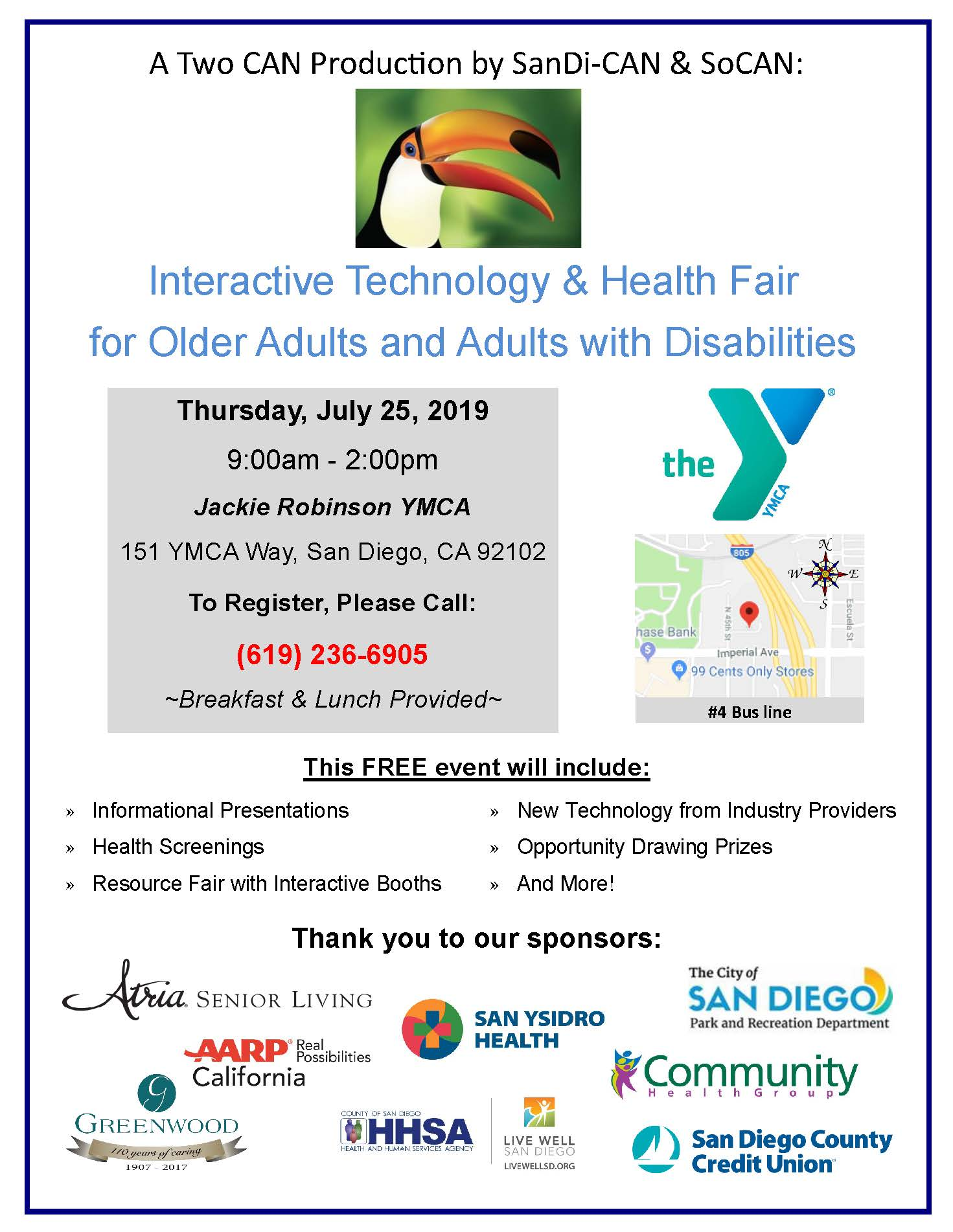 Interactive Technology & Health fair for Older Adults and Adults with Disabilities