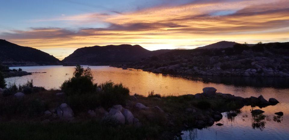 Sunset at Lake Morena