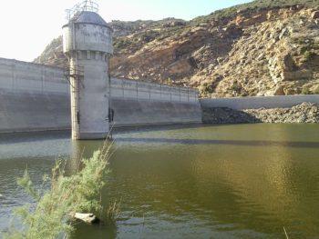 a dam at Lake Morena