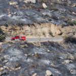 The Border Fire jumped the highway at several points.