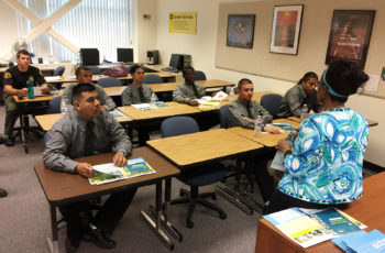 The teens learn about different certificate programs offered during an orientation at the San Diego Continuing Education campus in the Mid-City area in San Diego.