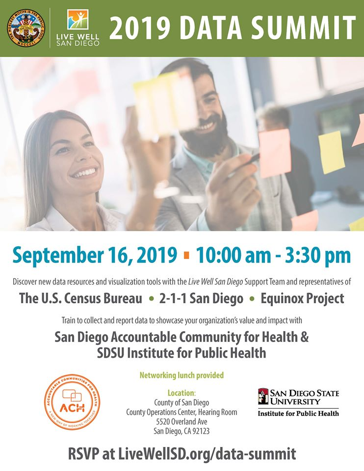 Live Well San Diego 2019 Data Summit