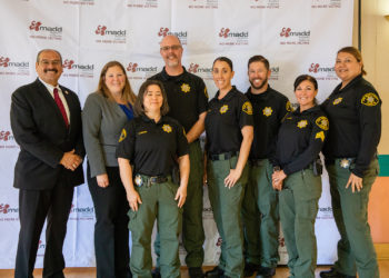 SD Probation DUI Unit officers with Probation Chief Adolfo Gonzales. ith