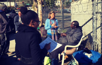 County employees participate in past homeless count.