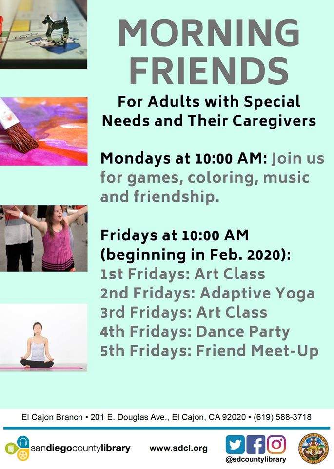 Morning Friends for Adults with Special Needs & Caregivers