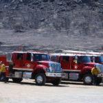 Orange County firefighters take a break.