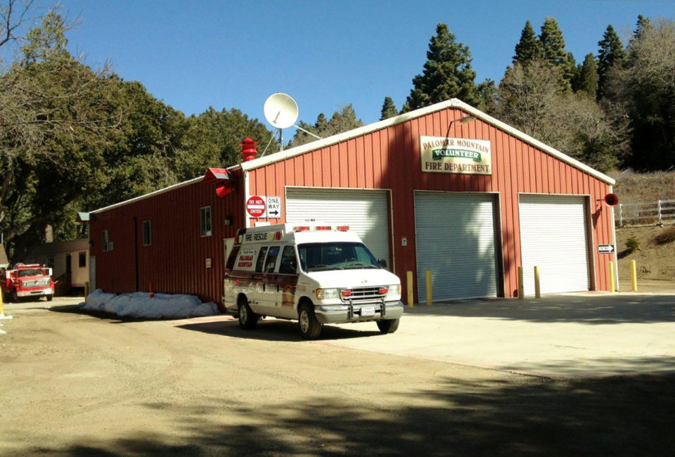 The Palomar Mountain Fire Station will get permanent living quarters built behind the fire station where a trailer sits in this photo.