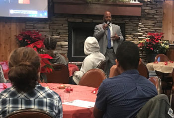 Former foster child Omar Passons, the director of Integrative Services for the County's Health and Human Services Agency, spoke with and thanked new and potential foster families of teenagers in the criminal justice system.