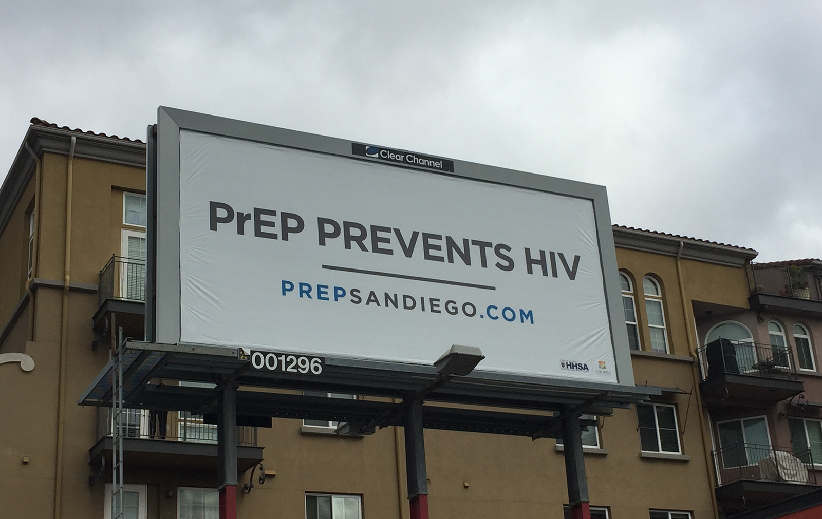 PrEP billboard near the corner of 30th St. and Lincoln Ave. in North Park.