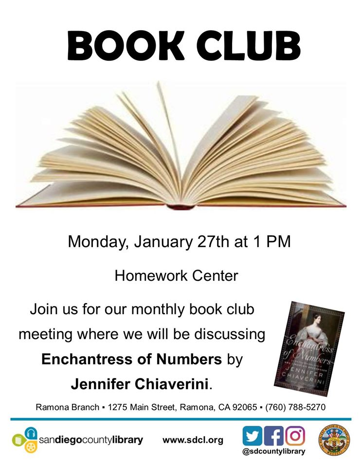 Ramona Library Book Club for Adults