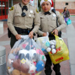 Sheriff's deputies make a special delivery.