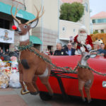 Santa arrives at Rady Children's Hospital.