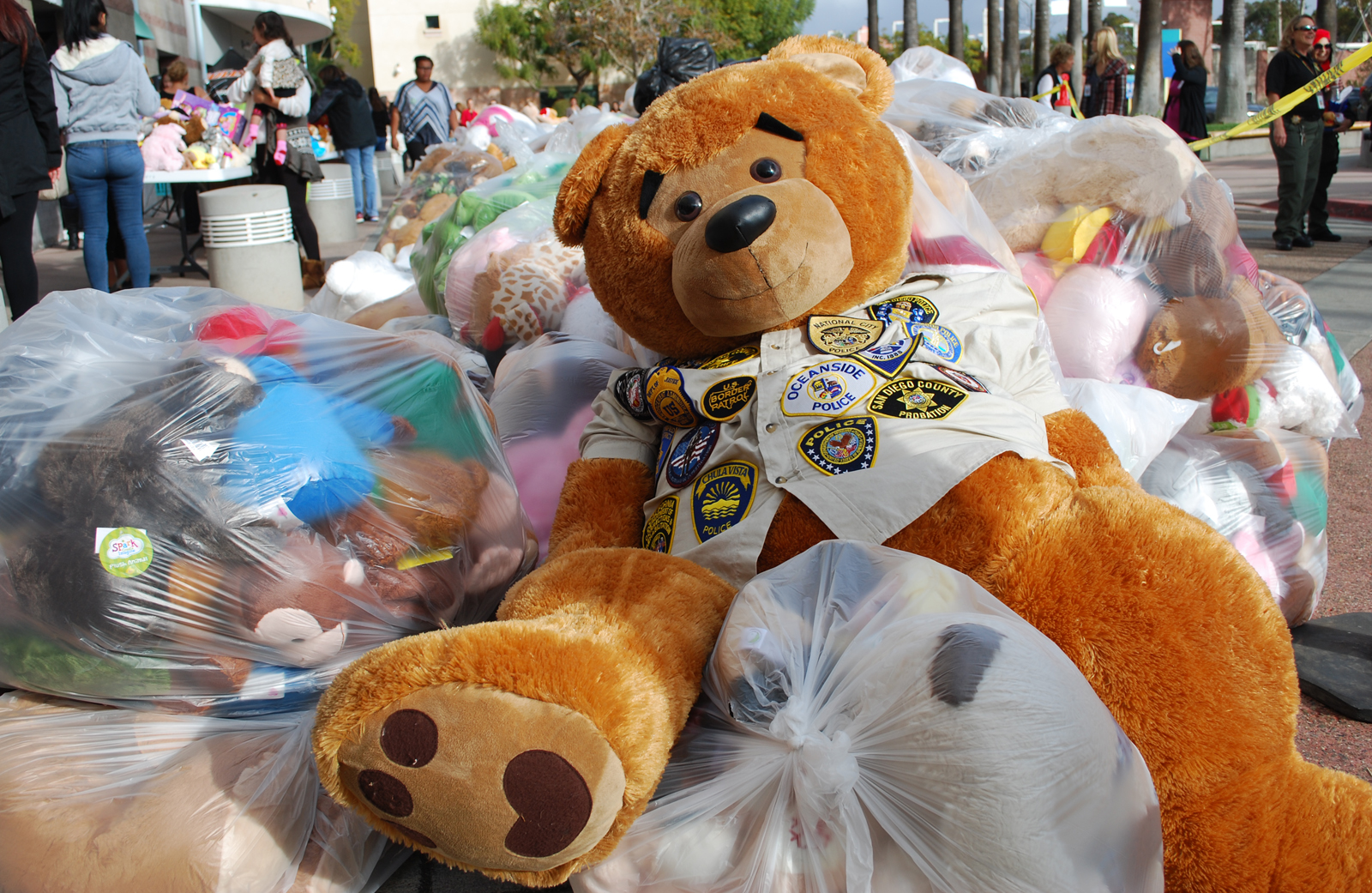 Thousands of stuffed animals were dropped off at the San Diego Regional Law Enforcement Teddy Bear Drive.