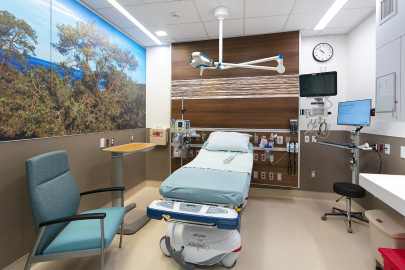 An exam room at the Gary and Mary West Senior Emergency Care Unit at UC San Diego Health