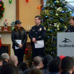 Shop With A Cop welcome ceremony.