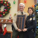 Sheriff Gore and San Diego Police Chief Shelley Zimmerman welcome all the children, officers and sponsors for Shop With A Cop.
