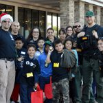 San Diego County Probation officers and their kid shopping partners.