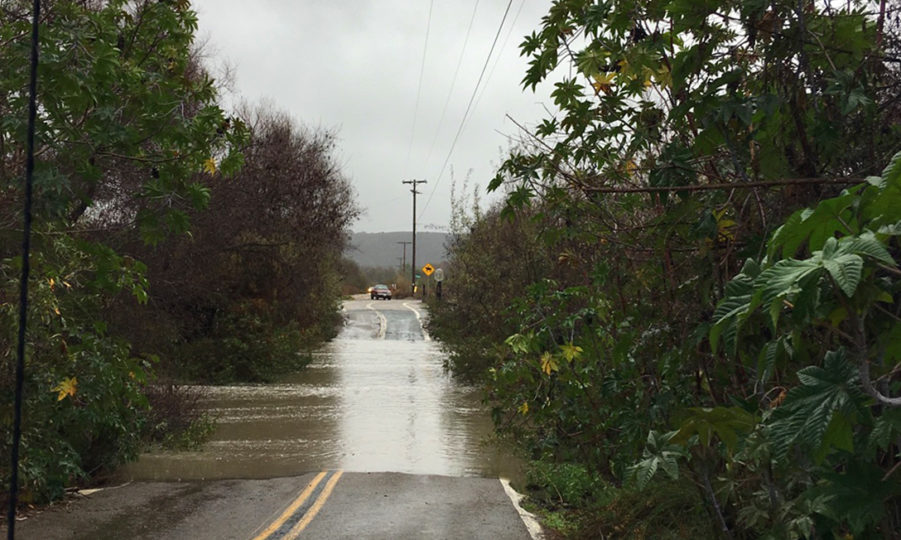 Saturn Boulevard flooded by a  sewage spill from south of the border that flowed into the Tijuana River.