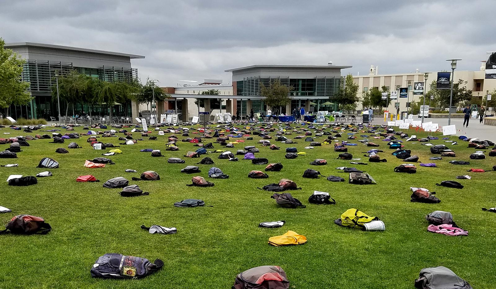 Send Silence Packing exhibit at California State University San Marcos.